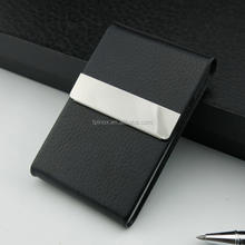 elegent personalized soft leather cigarette case for 100s