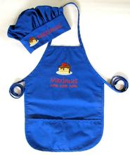 Custom Kids Chef Kitchen baking Set Kids Apron and Chef Hat with embroidery  Logo Cotton Material Children's Chef Set