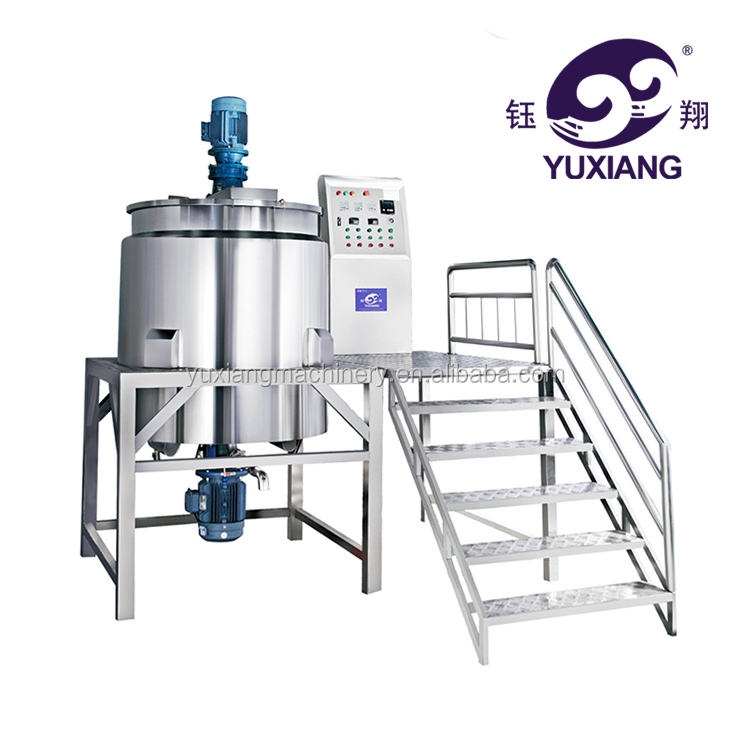 500L Electric heating stainless steel agitator mixing tank machine cosmetic liquid mixer(CE certificate)