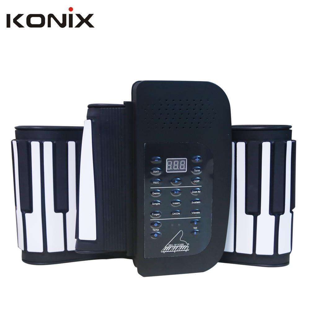 Flexible Electric Musical Instrument Roll up Piano Keyboard Toy for Your Kids