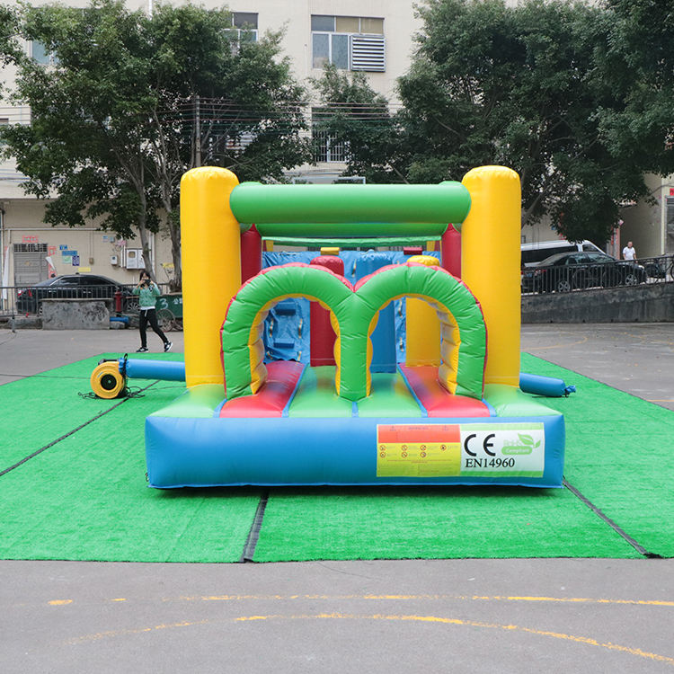 Inflatable BouncerJumper With Slide Inflatable Obstacle Course for Kids Play