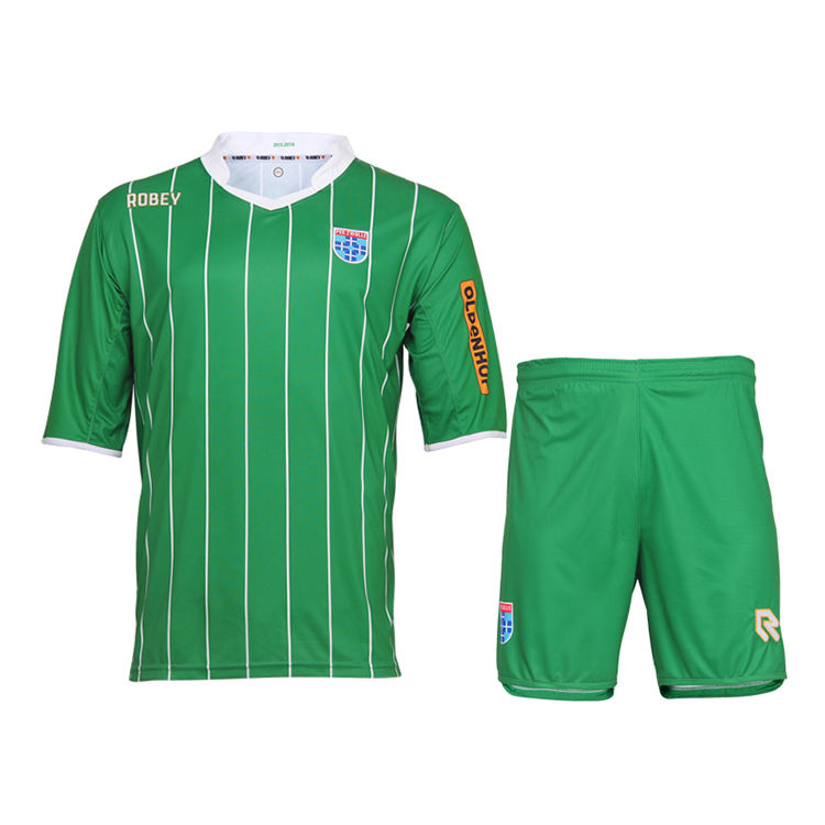 Green soccer uniforms,Custom design soccer uniform,Sublimated soccer uniform