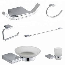 12000 modern kitchen china goods wholesale square design zinc bathroom accessory set