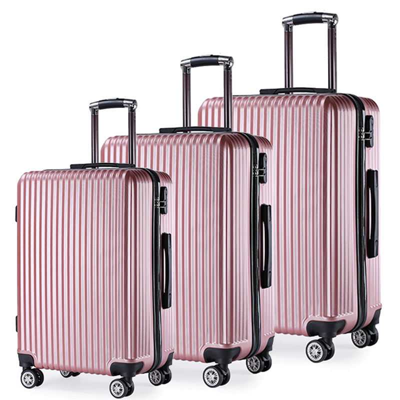 "High Quality 3pcs 20"" 24"" 28"" 360 degree travel suitcase luggage bag sets cart luggage sets"