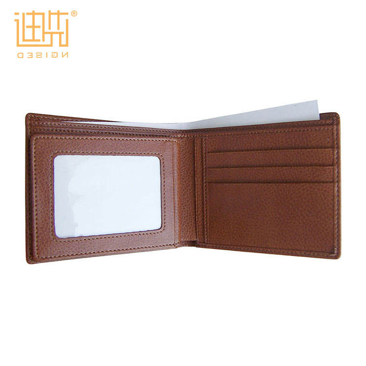 Good quality men PU leather wallet for wholesale