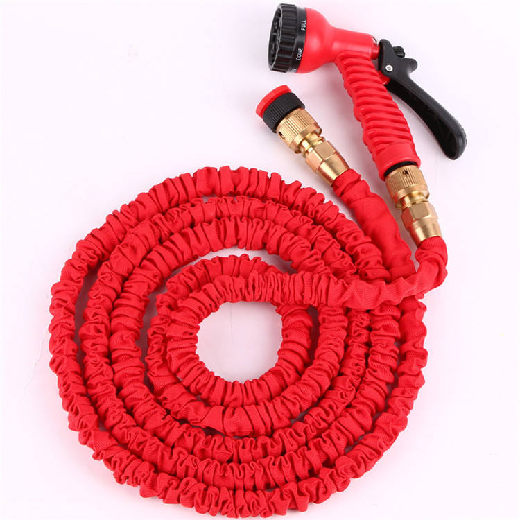 Factory direct anti-abrasion durable brass fitting garden coil hose expandable watering hose