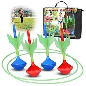 Wholesale Lawn Darts Game for Kids & Adults Glow in The Dark Outdoor Yard Darts & 2 Ground Dart Target Rings