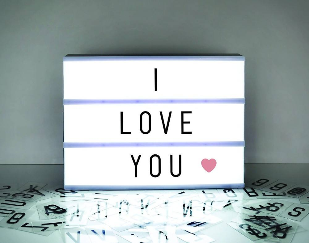 Trade Assurance Home Decoration DIY LED Cinema Light Box With Letters Warm Light for Display