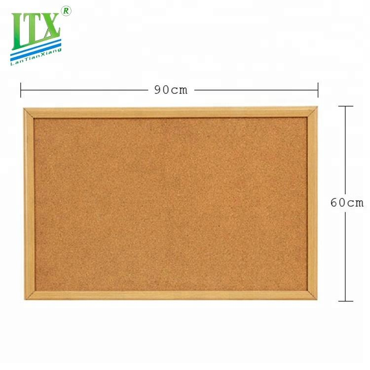 Customized school aluminum/wooden frame pin bulletin cork board notice board