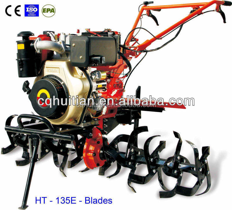 Air-cooled Diesel HT135 9HP Cheap Tiller with Rotary Blades