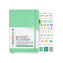 2020 2021 A5 Monthly Pu Leather Custom Budget Planner Organizer with Stickers