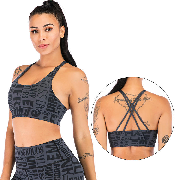 New Stylish Print High Support Sports Bra Women Best Quality Workout Wear Womans Sports Bra