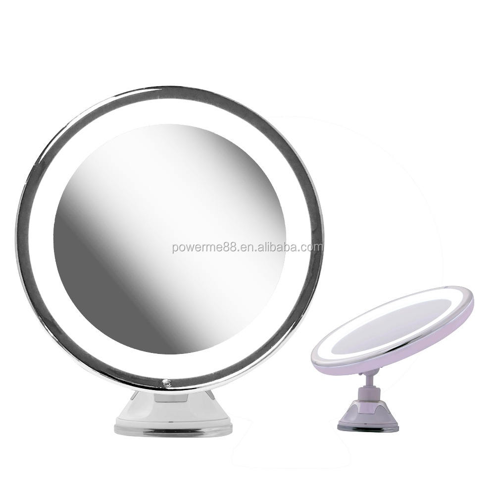 7x Magnifying LED Lighted Bathroom suction cup Makeup Mirror