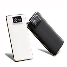OEM Aluminum External Battery With  LED Screen Power Bank 18000mah, Electronic Products For Phone Powerbank With Dula USB