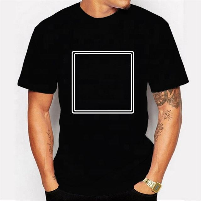 OEM logo design blank plain casual short sleeve t- shirt black t shirt plain