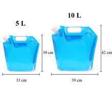 5L/10L Collapsible Water Bags Safety Plastic Drinking Water Storage Bag (Camping,Hiking,Riding,Mountaineering,Fishing and so on)