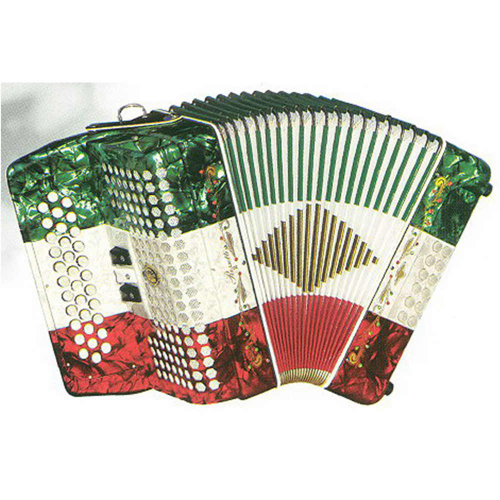 The Mexican button accordion 34 tremble button 12 bass button