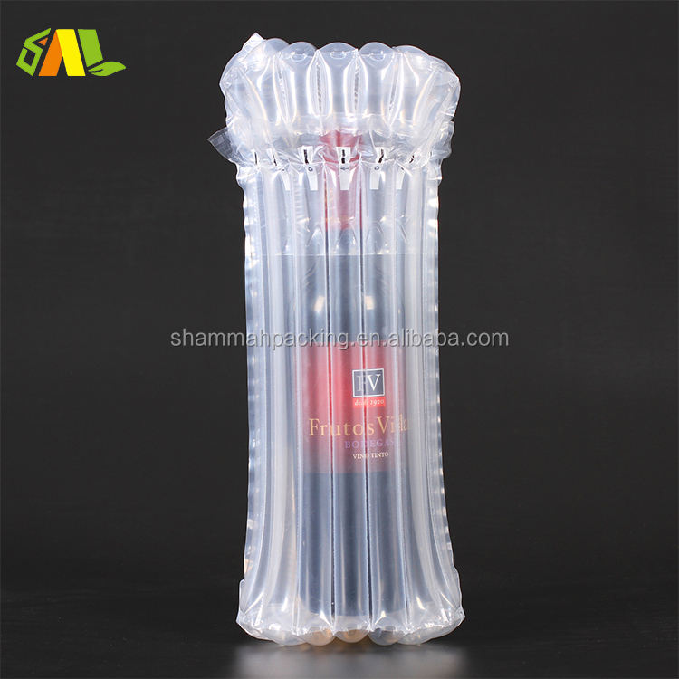 Shock Resistance Inflate Cushion Air Column Packaging For Wine Bottle