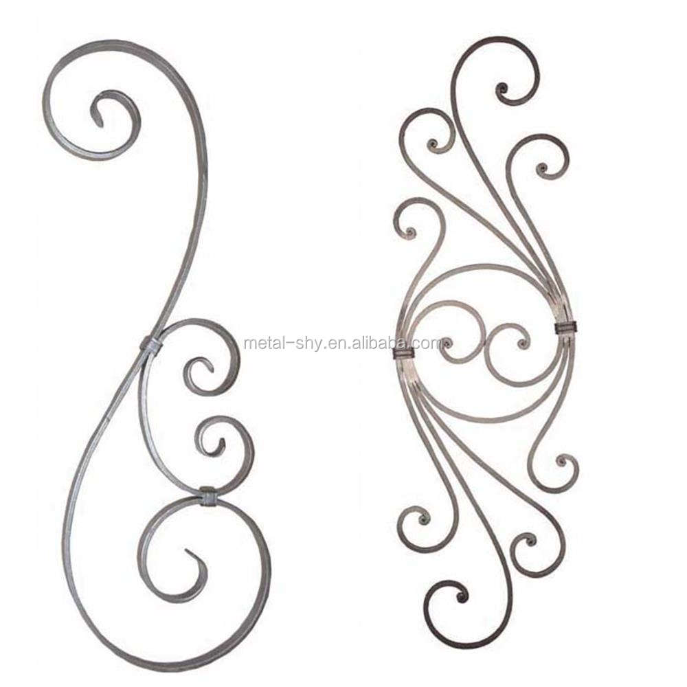 Decorative Wrought Iron Components 5X Fishtail Forged Rings Mild Steel Weld