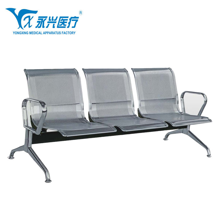 D06-6 public waiting chair airport waiting chair stainless steel material