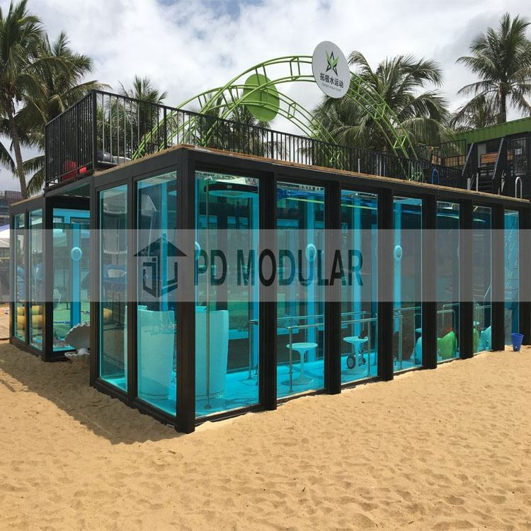 Mobile Prefab Container Swimming Pool for Sale, Ready-Made Modern Container Pool Swimming