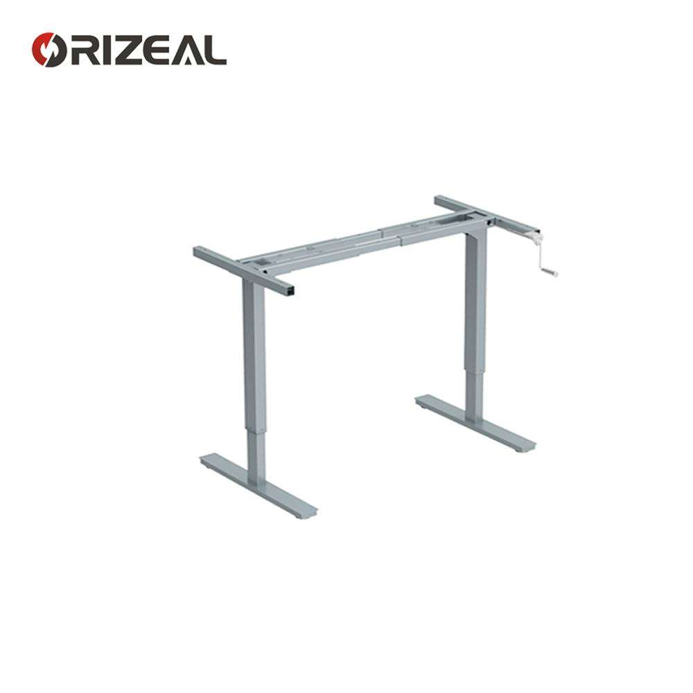 height adjustable desk crank hand lift table base can be used anywhere