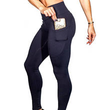 Wholesale Women High Waist Workout Athletic Running Tight Gym Wear Fitness Yoga Pants Leggings with Pockets