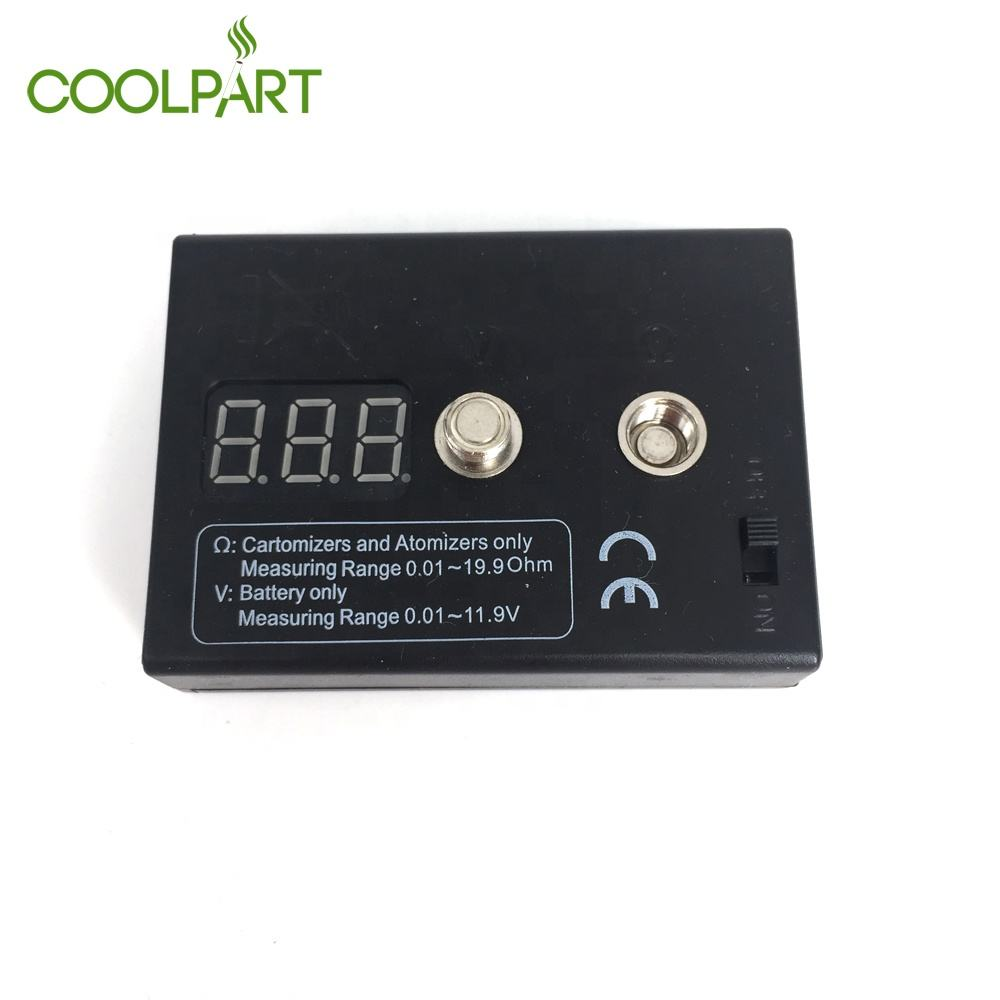 High Quality 0.01Ohm-19.9Ohm Cartomizer/Atomizer Ohm Resistance Tester 510 Battery Voltage Meter