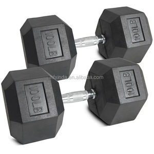 Fitness exercise equipment Rubber Hex Dumbbell Sets 3~150LBS
