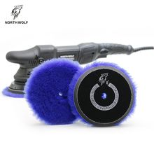 North wolf polish pad Korea car care 5inch blue long nap 100% lamb wool polishing pads
