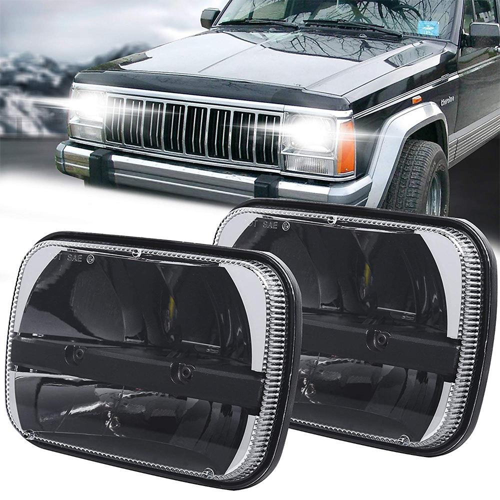 2 pcs Pair of 5x 7 Inch led headlight led trucklight High Low Beam Headlamp for jeep Wrangler YJ Cherokee XJ Trucks 4X4 Offroad