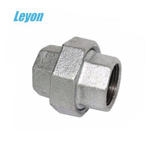 FM UL approved Hot-dipped GI malleable pipe fittings union connector