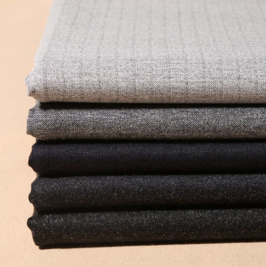High quality comfortable feel worsted wool best knitting fabric for trousers