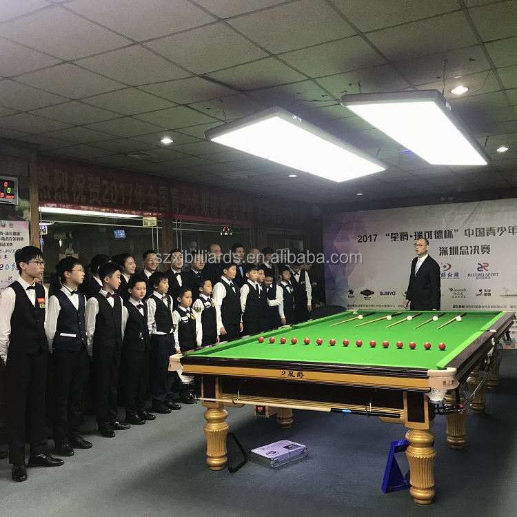 Professional World Championship Pool Snooker Table with Star Leg Style