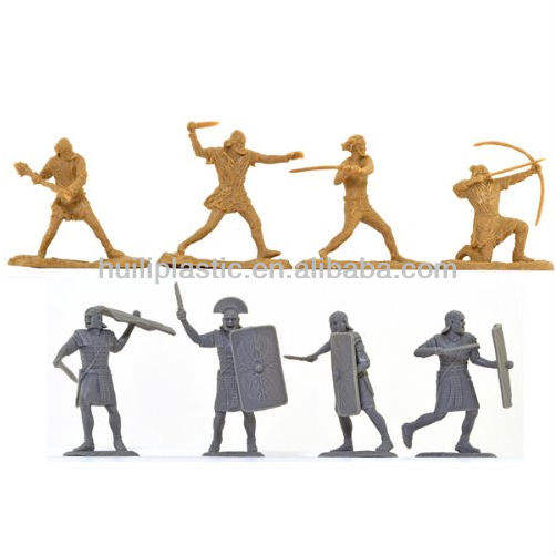 custom Ancient Roman Soldiers and Barbarians Set Unpainted miniatures Plastic Figures Toy Soldier