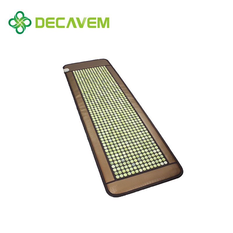 Blood circulation improvement effect jade thermal massage mat jade shiatsu massage cushion therapy healing jade mat