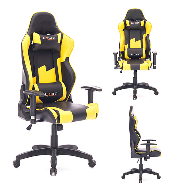 Adjustable video gamer computer rocker chair consoles gaming chair with neck pillow