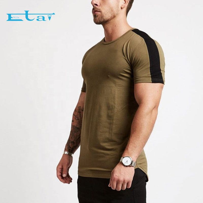 Custom Slim Fit Männer der Bodybuilding Muskel Trainings Workout Fitness Plain Gym T Hemd