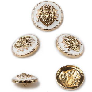 Custom Fashion Antique Gold Plated Coat Metal Shank Buttons for Clothes