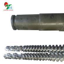 extruder conical twin screw barrel 65/132 for pvc pipes