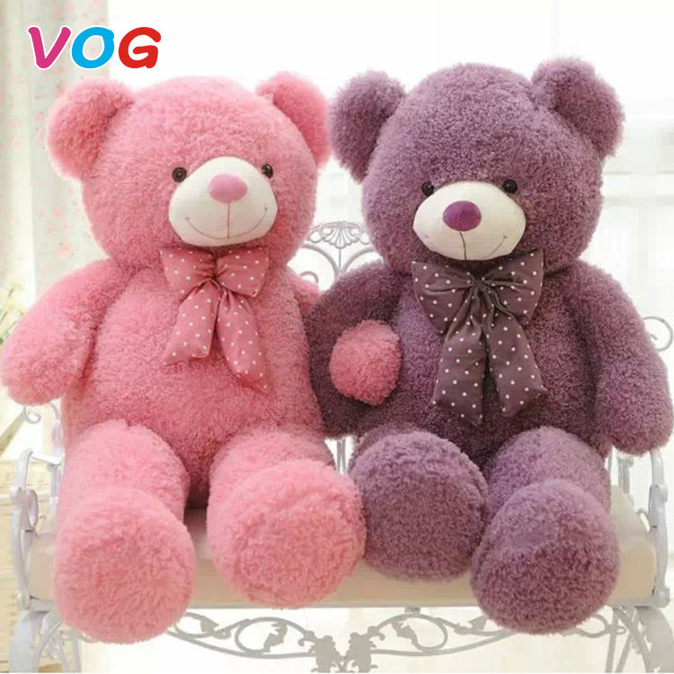 Custom made pretty cute children birthday hold sleeping teddy bear purple name plush toy stuffed animals