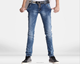 (stock)Popular slim fit mid-rise jeans for men, skinny men jeans