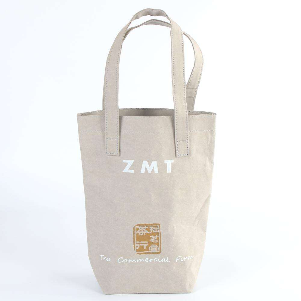 Luxury washable paper untearable waterproof material shopping bag with branded name