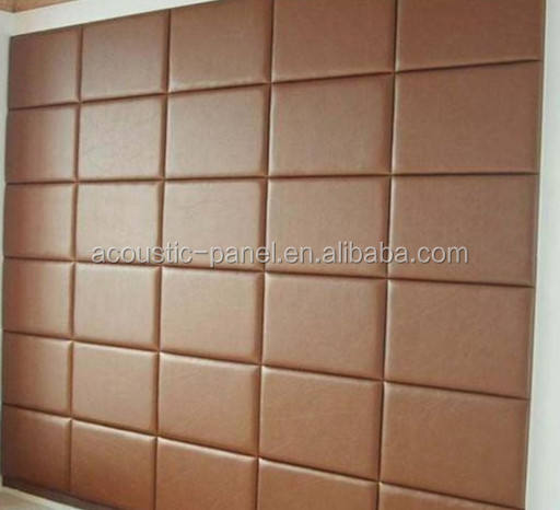 decorative leather wall panels soundproof foam wall panels