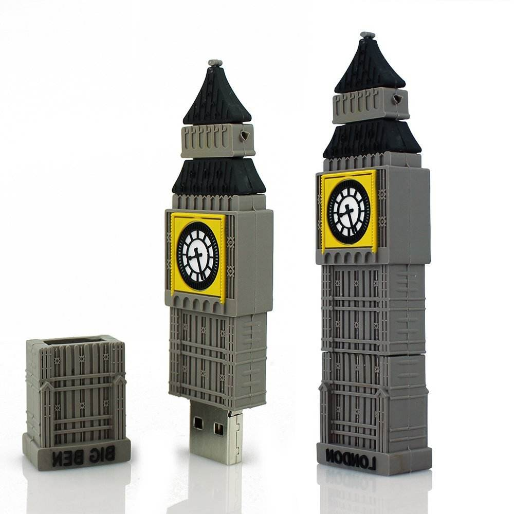 USB 2.0 Màu Xám The Big Ben Shape Creative U Đĩa 8 GB 16 GB 32 GB 64 GB USB Flash Drive Pen Drive Memory Stick Hot Bán Pendrive