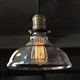 Glass Shade Retro Pendant Light of American Country Style Installing Vantage Edison Bulb