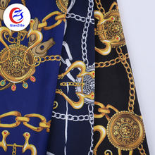 Shaoxing textile satin bubble dress material crepe fabric for scarf polyester fabric