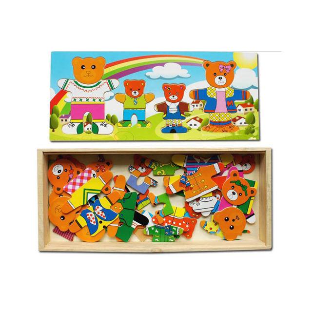Los osos cambiar <span class=keywords><strong>ropa</strong></span> juguete para niña niños tablero de juego