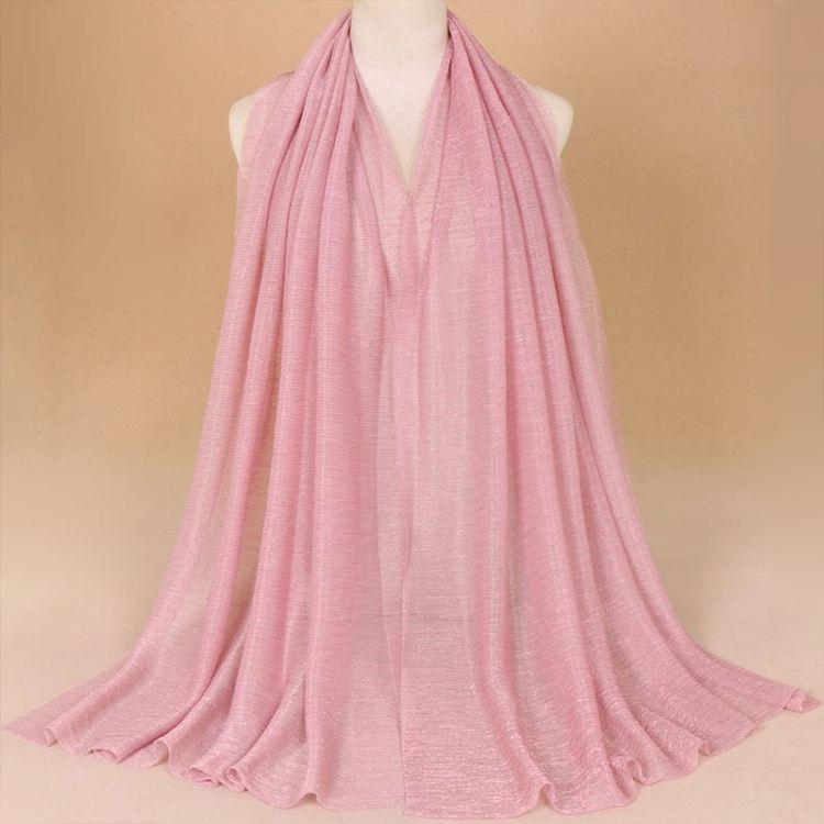 <span class=keywords><strong>Fil</strong></span> d'or en soie 100% polyester femmes hijab écharpe