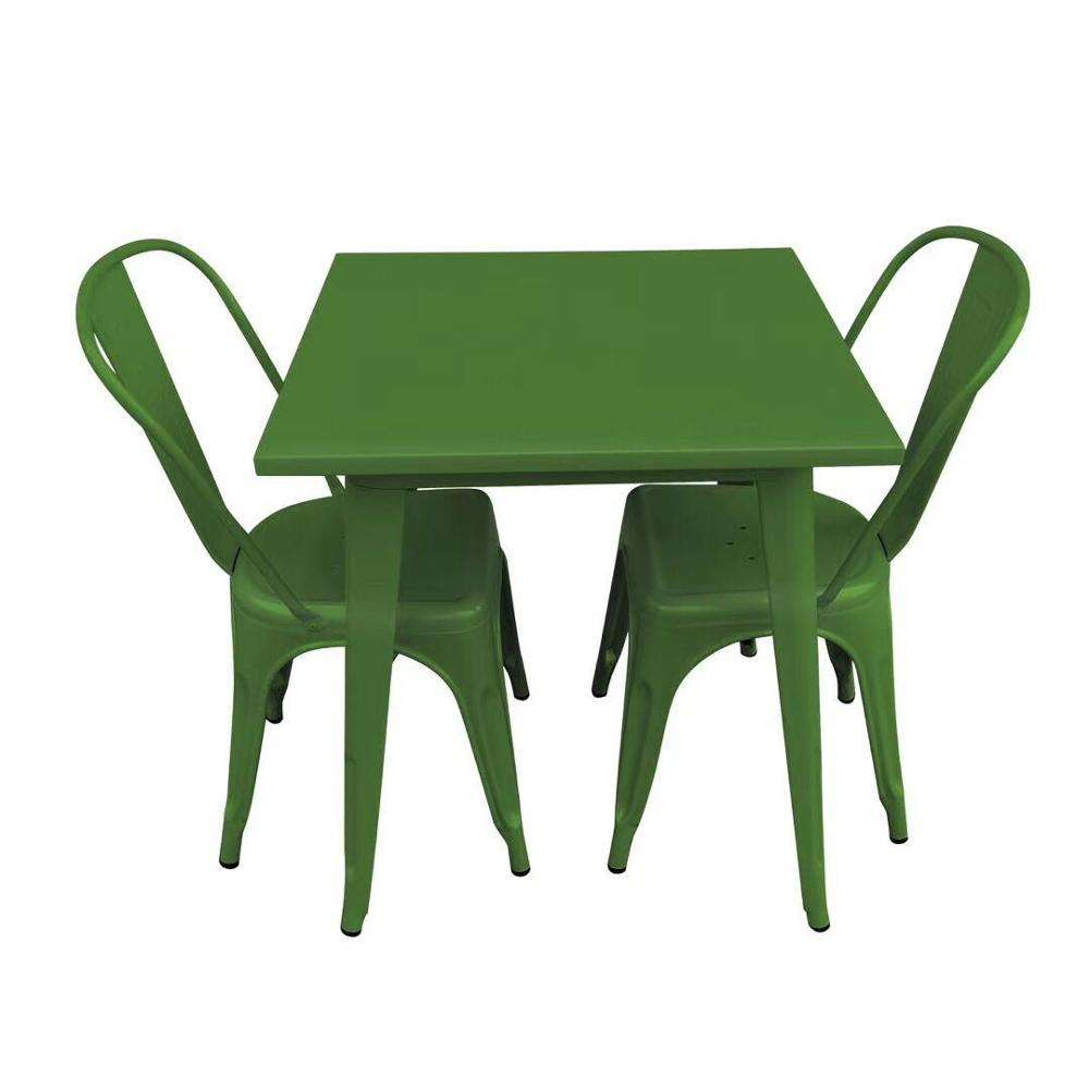 Wholesale cheap French dining room China the metal garden steel used restaurant dining tables and chairs prices